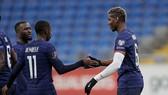 Niềm vui của các cầu thủ Pháp