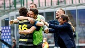 Inter Milan ăn mừng chiến thắng