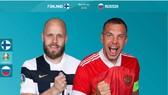 Teemo Pukki của Phần Lan và Artem Dzyuba của Nga
