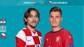 Luka Modric (Croatia) và Patrick Schick (CH Czech)