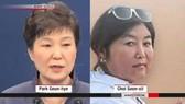 Tổng Thống Parl Geun Hye và bà Choi Soon Sil. Ảnh: Cyberspace & Time