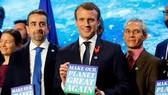 Tổng thống Pháp Emmanuel Macron trong buổi công bố. Ảnh: REUTERS