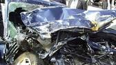 Chiếc xe gây tai nạn bị hư hỏng hoàn toàn. Nguồn: NATION.CO.KE