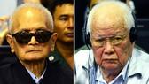 Nuon Chea (trái) và Khieu Samphan. Ảnh:REUTERS