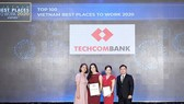 Techcombank 5 năm liền vinh danh top 2 nơi làm việc tốt nhất