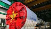 Bộ phận khiên đào và phần thân máy để đào hầm metro Nhổn-ga Hà Nội đã hoàn thiện việc lắp đặt. (Ảnh: MRB cung cấp)