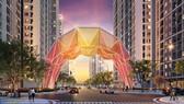 Cổng chào Origami biểu tượng cho văn hoá xứ Phù Tang giữa Đại đô thị