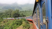 Đoàn tàu của ngành đường sắt đang chạy trên tuyến Bắc-Nam. (Ảnh: Minh Sơn/Vietnam+)