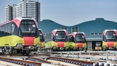 Các đoàn tàu tuyến đường sắt đô thị đoạn Nhổn-ga Hà Nội sẽ được chạy thử liên tiếp vào tháng 12 tới. (Ảnh: CTV/Vietnam+)
