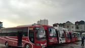 Một số tuyến vận tải xe khách cố định liên tỉnh đã được mở lại trong ngày 13/10. (Ảnh: Việt Hùng/Vietnam+)
