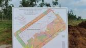 Bản đồ khu đất xây dựng sân bay quốc tế Long Thành - Ảnh: H.M.