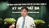 Phó Chủ tịch UBND TPHCM Lê Hòa Bình cho biết một trong những nhiệm vụ trong tâm của TP là giải quyết dứt điểm những tồn tại liên quan đến KĐT Thủ Thiêm. Ảnh: Việt Dũng