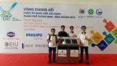 Nhóm sinh viên EIU tham gia cuộc thi sáng kiến xây dựng TP thông minh 2018