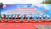 Công trình đường và cầu kết nối giữa hai tỉnh Tây Ninh và Bình Dương đang được xây dựng