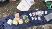 Tang vật tại hiện trường vụ bắt giữ ma túy