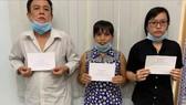Liêu Tuấn Trọng cùng vợ và con gái