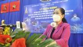 Chủ tịch HĐND TPHCM Nguyễn Thị Lệ phát biểu tại buổi lễ. Ảnh: CAO THĂNG