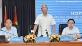 Phó Chủ tịch UBND TPHCM Võ Văn Hoan chủ trì cuộc họp báo chiều 6-8-2019.Ảnh: VIỆT DŨNG