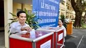Đồng chí Trần Lưu Quang, Ủy viên Trung ương Đảng, Phó Bí thư Thường trực Thành ủy, đóng góp chương trình. Ảnh: KIỀU PHONG