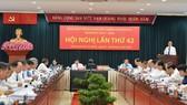 Bí thư Thành ủy TPHCM Nguyễn Thiện Nhân phát biểu tại Hội nghị Thành ủy lần thứ 42. Ảnh: VIỆT DŨNG