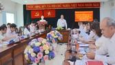 Đồng chí Nguyễn Hồ Hải phát biểu chỉ đạo tại quận 3. Ảnh: KIỀU PHONG