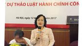 ĐBQH Trần Thị Quốc Khánh nói về dự án Luật Hành chính công