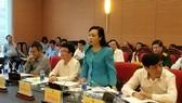 Bộ trưởng Bộ Y tế phát biểu tại phiên họp