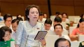 ĐB Phạm Khánh Phong Lan phát biểu tại hội trường