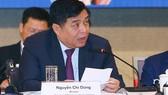 Bộ trưởng Bộ Kế hoạch và Đầu tư Nguyễn Chí Dũng phát biểu tại Diễn đàn