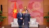 Chủ tịch Quốc hội Nguyễn Thị Kim Ngân và Đại sứ, Trưởng phái đoàn Liên minh Châu Âu tại Việt Nam Bruno Angelet