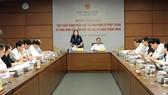 Chủ nhiệm Uỷ ban Tư pháp Lê Thị Nga điều hành phiên họp