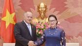 Chủ tịch Quốc hội Nguyễn Thị Kim Ngân tiếp Phó Chủ tịch thứ nhất Đảng Xã hội chủ nghĩa thống nhất Venezuela Diosdado Cabello Rondón