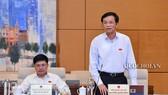 Tổng Thư ký Quốc hội Nguyễn Hạnh Phúc báo cáo về dự kiến chương trình kỳ họp thứ 8