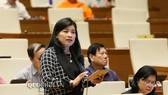ĐB Đàng Thị Mỹ Hương (Ninh Thuận) phát biểu tại phiên họp