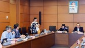 Nguyên Chủ tịch HĐND TPHCM, ĐB Nguyễn Thị Quyết Tâm phát biểu tại phiên họp tổ sáng 29-10-2019. Ảnh: VIẾT CHUNG