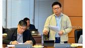 Ủy viên Thường trực Ủy ban Quốc phòng – An ninh Nguyễn Thanh Hồng phát biểu tại hội nghị. Ảnh: Cổng thông tin điện tử Quốc hội
