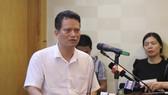 Ông Nguyễn Xuân Hải, Vụ trưởng Vụ Thẩm định Đánh giá tác động môi trường (Bộ Tài nguyên và Môi trường) trả lời phóng viên tại cuộc họp báo
