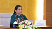Phó Chủ tịch Thường trực Quốc hội, Trưởng Ban Tổ chức Đại hội đồng lần thứ 41 Hội đồng Liên nghị viện ASEAN (Đại hội đồng AIPA 41) Tòng Thị Phóng chủ trì phiên họp