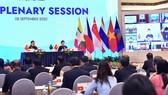 Chủ tịch Quốc hội Việt Nam, Chủ tịch AIPA 41 Nguyễn Thị Kim Ngân và Phó Chủ tịch Thường trực Quốc hội, Trưởng đoàn đại biểu Quốc hội Việt Nam tại AIPA 41 Tòng Thị Phóng tại Phiên họp toàn thể thứ Nhất