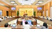 Toàn cảnh một phiên họp của UBTVQH