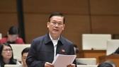 ĐBQH Nguyễn Thanh Quang trong một lần phát biểu tại nghị trường Quốc hội khoá XIV
