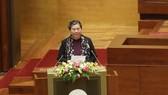 Phó Chủ tịch Quốc hội Tòng Thị Phóng thay mặt Ủy ban Thường vụ Quốc hội trình Quốc hội miễn nhiệm chức vụ Chủ tịch Quốc hội, Chủ tịch Hội đồng Bầu cử quốc gia