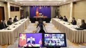 Chủ tịch nước Nguyễn Xuân Phúc phát biểu tại Hội nghị Thượng đỉnh trực tuyến về biến đổi khí hậu. Ảnh: QUANG PHÚC