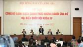 Tổng Thư ký, Chủ nhiệm Văn phòng Quốc hội Bùi Văn Cường chủ trì họp báo. Ảnh: QUANG PHÚC