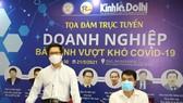 Chủ tịch Phòng Thương mại và Công nghiệp Việt Nam (VCCI) Vũ Tiến Lộc  phát biểu tại tọa đàm