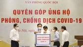 Chủ tịch Quốc hội Vương Đình Huệ quyên góp ủng hộ Quỹ phòng chống dịch Covid-19