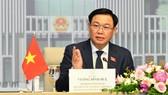 Chủ tịch Quốc hội Vương Đình Huệ khẳng định, Quốc hội Việt Nam ủng hộ và sẵn sàng phối hợp chặt chẽ với Hội đồng Lập pháp Brunei. Ảnh: VIẾT CHUNG
