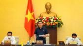 Chủ tịch Quốc hội Vương Đình Huệ phát biểu khai mạc phiên họp sáng nay, 14-6