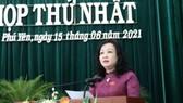 Bà Cao Thị Hòa An - Chủ tịch HĐND tỉnh Phú Yên khóa VIII. Nguồn: TTXVN
