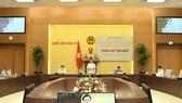 Chủ tịch Quốc hội Vương Đình Huệ chủ trì phiên họp về hoàn thiện và tổ chức thi hành pháp luật